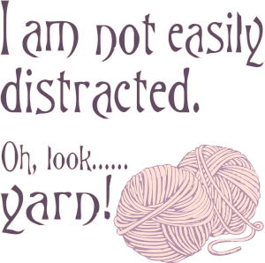 I am not easily distracted... oh look, Yarn!