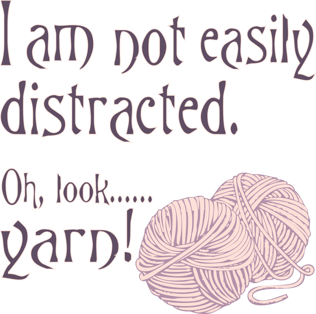 Craft Distracted by yarn